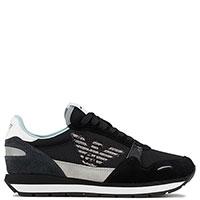 Текстильные кроссовки Emporio Armani черного цвета, фото