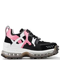 Черные кроссовки Emporio Armani с контрастными деталями, фото