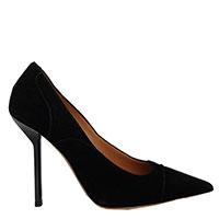 Черные туфли Emporio Armani на высоком каблуке из замши, фото