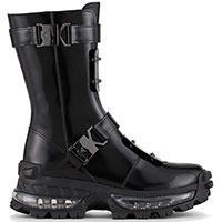 Черные ботинки Emporio Armani с пряжками, фото