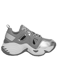 Массивные кроссовки Emporio Armani серебристого цвета, фото
