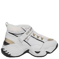 Утепленные кроссовки Emporio Armani белого цвета, фото