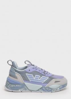 Серые кроссовки Emporio Armani с голубыми вставками, фото