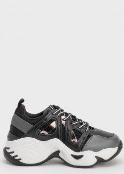 Черные массивные кроссовки Emporio Armani, фото