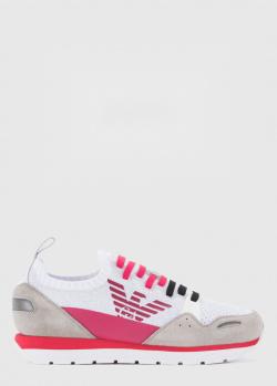Кроссовки Emporio Armani с яркими розовыми вставками, фото