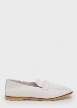 Белые лоферы Emporio Armani из гладкой кожи, фото