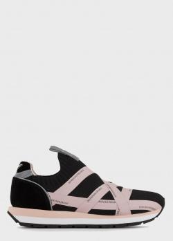 Кроссовки Emporio Armani с яркими розовыми переплетами, фото