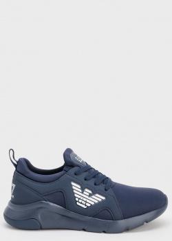 Синие женские кроссовки Emporio Armani с лого, фото