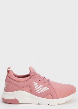 Розовые кроссовки Emporio Armani с логотипом, фото