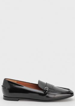 Черные лаковые лоферы Emporio Armani, фото