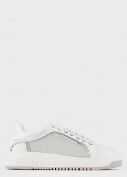 Белые кеды Emporio Armani с прозрачными вставками, фото