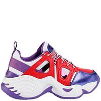 Яркие кроссовки Emporio Armani на толстой подошве, фото
