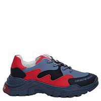 Кроссовки Emporio Armani красного и синего цвета, фото