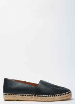 Черные эспадрильи Kenzo с фирменным тиснением, фото