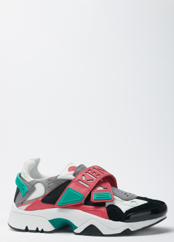 Кроссовки на липучках Kenzo с цветными вставками, фото