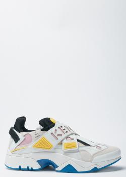 Белые кроссовки Kenzo на толстой подошве, фото