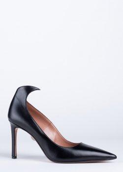 Туфли Samuele Failli из черной кожи на шпильке, фото