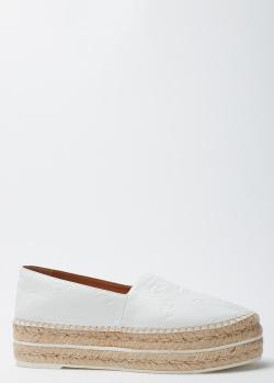 Эспадрильи белого цвета Kenzo на платформе, фото