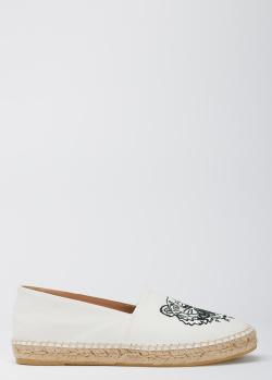 Белые эспадрильи Kenzo с фирменным тигром, фото