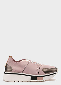 Текстильные кроссовки Fabi розового цвета, фото