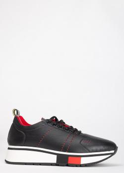 Кроссовки Fabi из черной кожи, фото