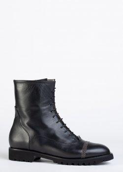 Черные ботинки Fabiana Filippi на шнуровке, фото