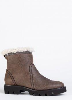 Коричневые ботинки Fabiana Filippi на меху, фото