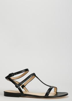 Сандалии из кожи Fabiana Filippi черного цвета, фото