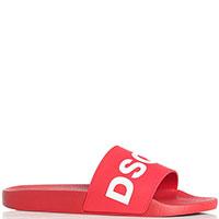 Красные сланцы Dsquared2 с логотипом, фото