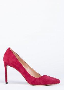 Туфли Francesco Russo из красной замши, фото