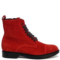 Замшевые ботинки Fratelli Rossetti красного цвета, фото