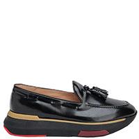 Черные туфли Fratelli Rossetti с декором-кисточками, фото
