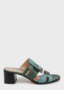 Мюли Fratelli Rossetti на устойчивом каблуке, фото