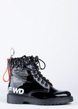 Ботинки FWD Lab черного цвета с принтом, фото