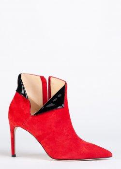 Замшевые ботильоны Giannico красного цвета, фото