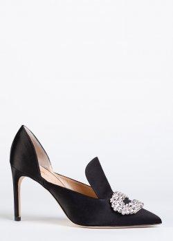 Туфли Giannico черного цвета с декором, фото