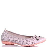 Розовые балетки La Ballerina из лакированной кожи с перфорацией, фото