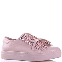 Розовые кеды Uma Parker с декором на носке, фото
