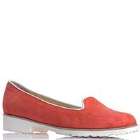 Слиперы Merianna красного цвета из замши, фото