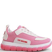 Кроссовки Love Moschino розового цвета, фото