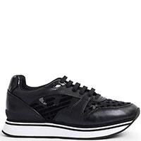 Женские кроссовки Emporio Armani черного цвета, фото