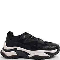 Черные кроссовки Ash на массивной подошве, фото