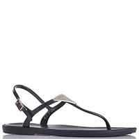 Черные сандалии Emporio Armani с металлическим декором, фото