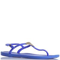 Синие сандалии Emporio Armani с металлическим декором, фото