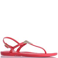 Красные сандалии Emporio Armani с металлическим декором, фото