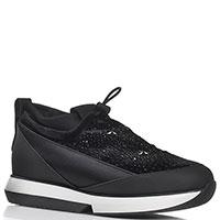 Черные кроссовки  Alexander Smith с декором-стразами, фото