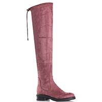 Розовые ботфорты Tiffi на низком каблуке, фото