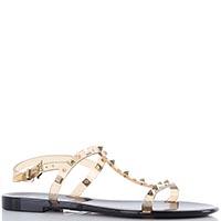 Прозрачные силиконовые сандалии Menghi с заклепками и кристаллами Swarovski, фото