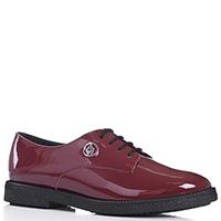 Лаковые туфли Armani Jeans бордового цвета, фото