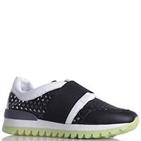 Черные кроссовки Armani Jeans без шнуровки, фото